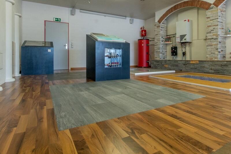 Showroom für Bodenheizungen und Bodenbeläge
